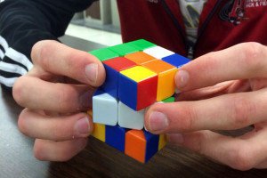 Students seek speedy solution to scrambled Rubik's Cube