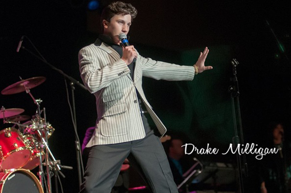 Drake Milligan impersonates Elvis Presley in a performance. Milligan is a sophoore at Legacy High School in Mansfield, Texas.