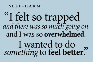 Self-harm is damaging but treatable