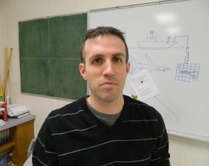 Cluster 6 math teacher Aram Manoukian recently returned to work at Watertown Middle School after undergoing surgery on his skull to fix a problem that began in 1996.