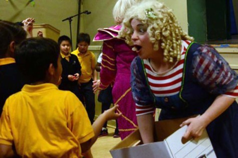 Clowning around: Upper School students have fun with young buddies