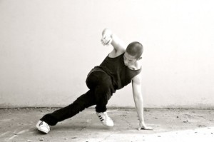 Pal;o Alto High School senior Elijah Wax shows off his b-boy moves. He has been breakdancing since middle school.