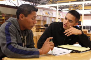 Students tutors help English learners to pass CAHSEE