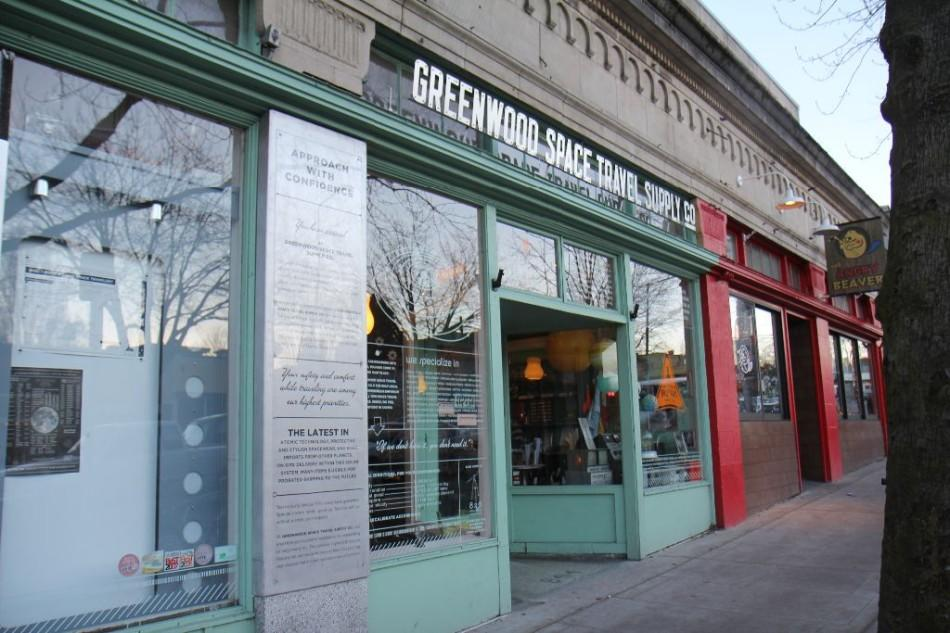 The Greenwood Space Travel Supply Co. is a storefront for 826 tutoring center in Seattle. 826 helps with everything from science homework to college application essays.