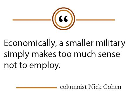 Downsizing the military would bring financial benefits