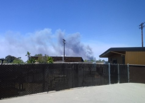Fires break out in North County