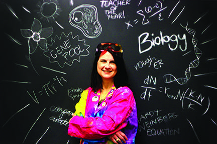 After 18 years of teaching, AP Biology teacher Sherri Wagner is awarded teacher of the year.