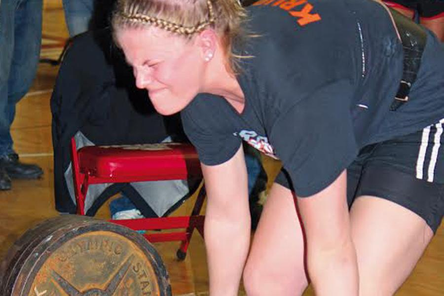 Everything she has is dedicated to becoming state champion powerlifter