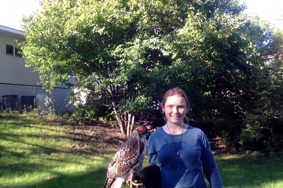Spencer Sweeney, a freshman at Benilde-St. Margaret's School, has spent over two years working to become a permitted falconer.