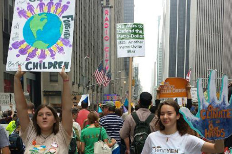 Two BHS juniors participate in 'People's Climate March' in New York
