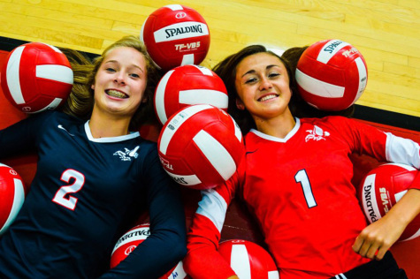 Attitude adjusters: Varsity volleyball defensive stars are key players