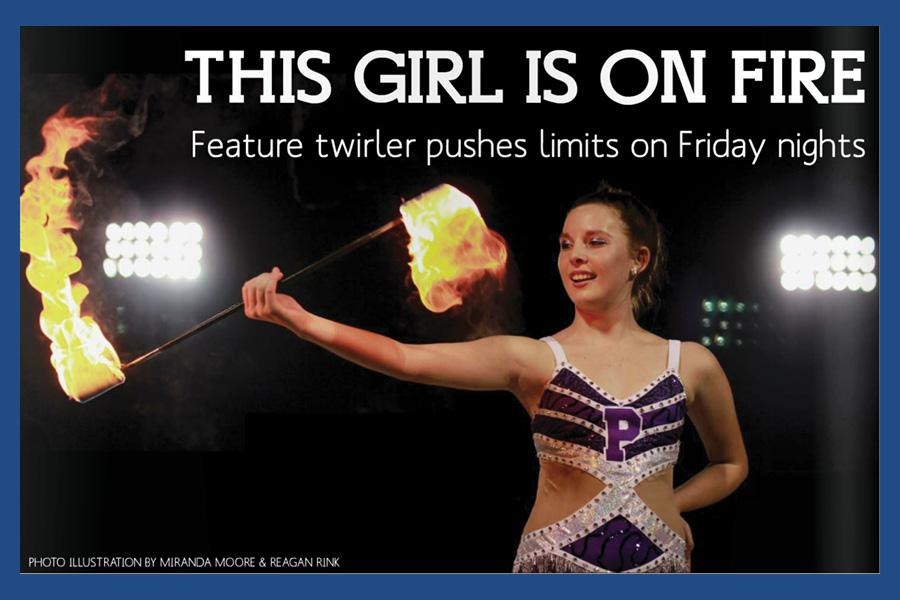 Girl on fire: Feature twirler pushes limits on Friday night
