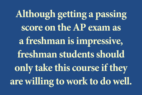Is APUSH too much of a push for freshmen?