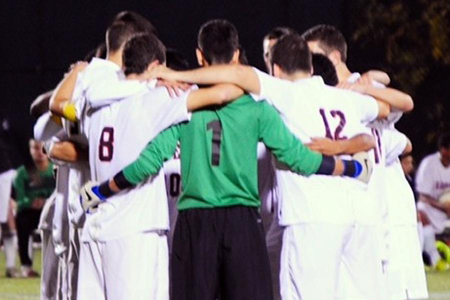Senior goalie Joe Keikian (1) and the Watertown High boys soccer team qualified for the 2014 MIAA state tournament.