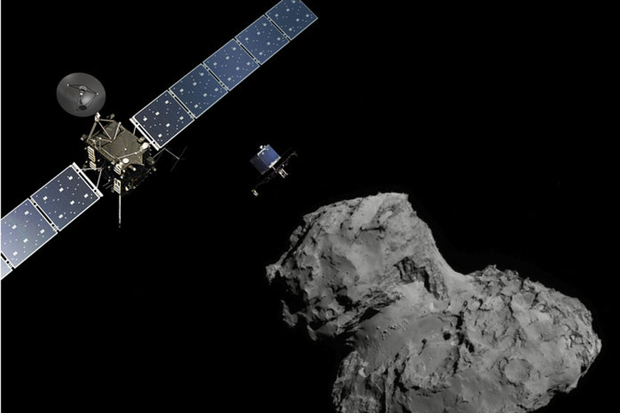 Spacecraft+Rosetta+successfully+deployed+its+lander+on+Comet+67P%2FC-G+on+Nov.+12%2C+2014