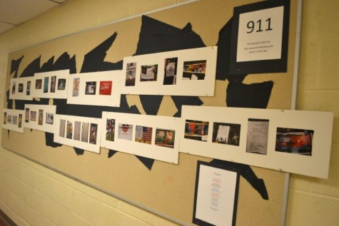 A commemorative art exhibit for post-9/11 students