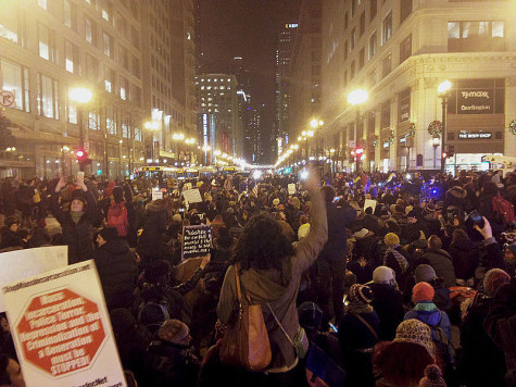 Protests in Chicago resulting from the Eric Garner decision.