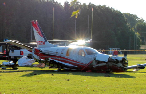 Plane crashes on school practice field
