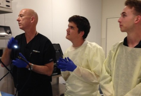 Bio class travels to UCSD to perform endoscopies on pigs