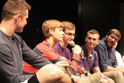 "Peer-education club hosts ""guys panel"""