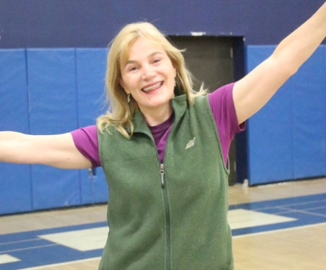 Maureen Cadden brightens up the gym
