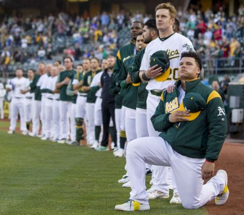 In a league where players have gone silent, A's Bruce Maxwell makes his voice heard