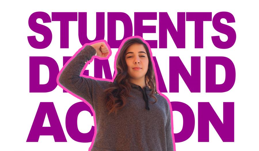 Senior Sophie Herrmann advocates for Students Demand Action program
