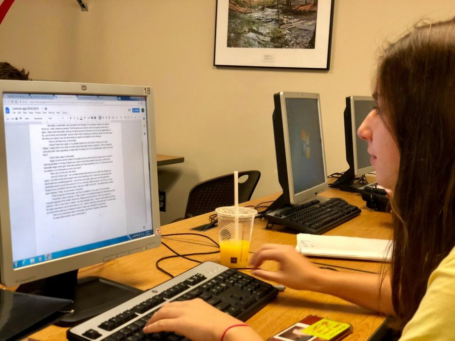Students keep busy with writing college essays