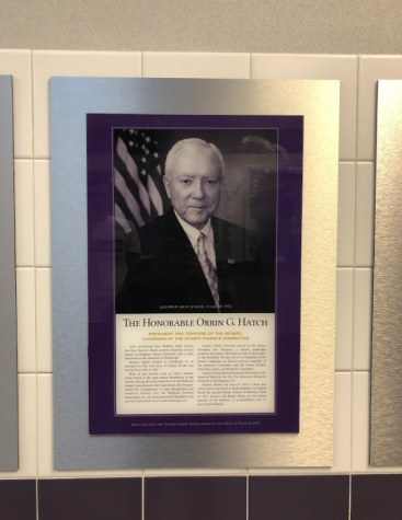 Senior Julia Gaetano began a petition to have Sen. Hatch removed from Baldwin's Distinguished Highlander Alumni Hall of Fame posted outside the gymnasium.