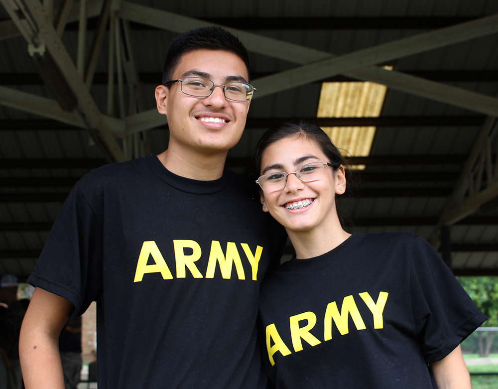 Jose Lopez and Annabel Reyes volunteered at the Sacred Heart Children's Home with the Nixon JROTC in September.