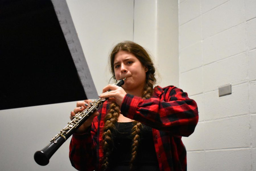 Senior oboist Gwyn Allendorph works to make her passion a career