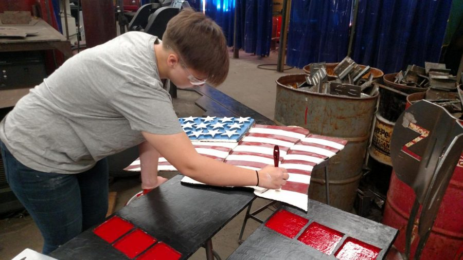 Welding students refurbish 9/11 memorial