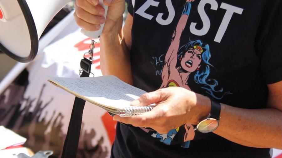 Sexual assault survivor speaks up at City College protest