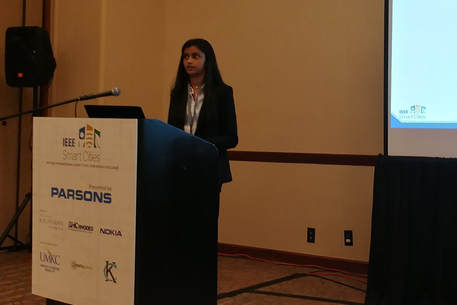 Senior's ISM paper being presented at international conference