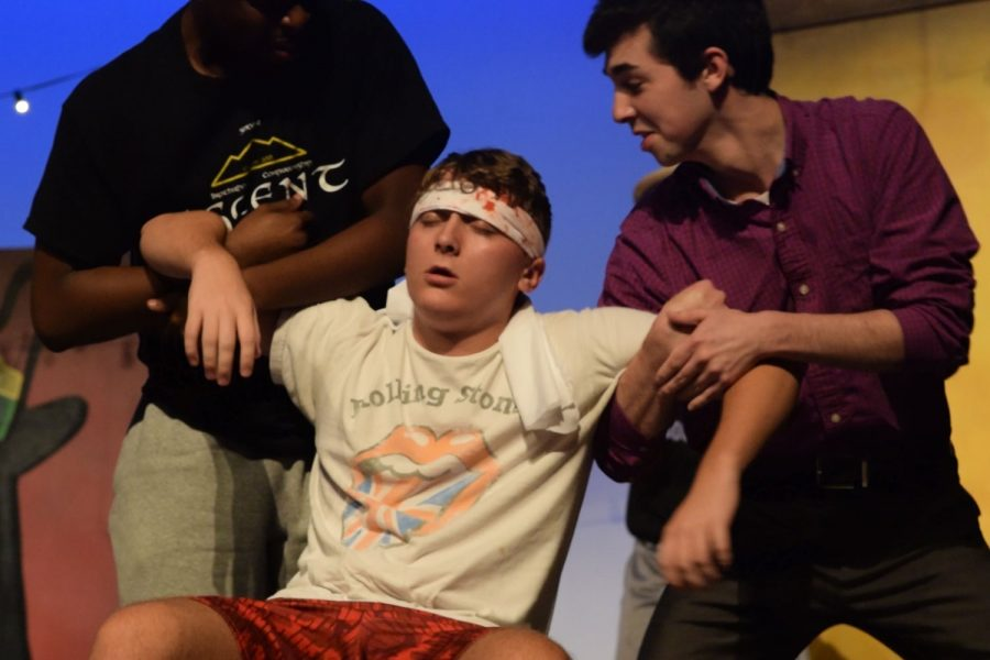 Video: Theater puts finishing touches on fall play