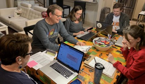PHONE BANKING FOR BETO: volunteers for the Beto O'Rourke campaign Shannon, Walter, Trevor, Penny, and Marcy who are residents of McCallum's district, phone banked for Beto O'Rourke's campaign the night before the 2018 midterm election day on Nov. 6.