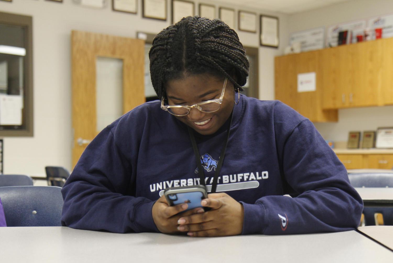 Amara Shanks, 10, spends time on social media.