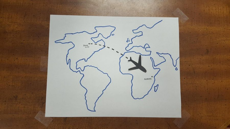 An+illustration+of+a+plane+shows+the+distance+traveled+by+Caroline+Mascardo+%2722+when+she+went+to+Nairobi%2C+Kenya