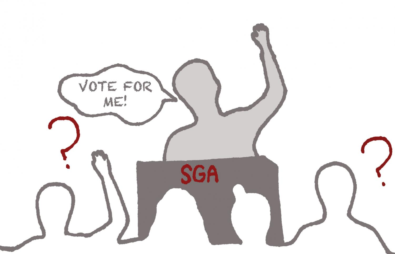 Students are often unaware of what each SGA candidate stands for.