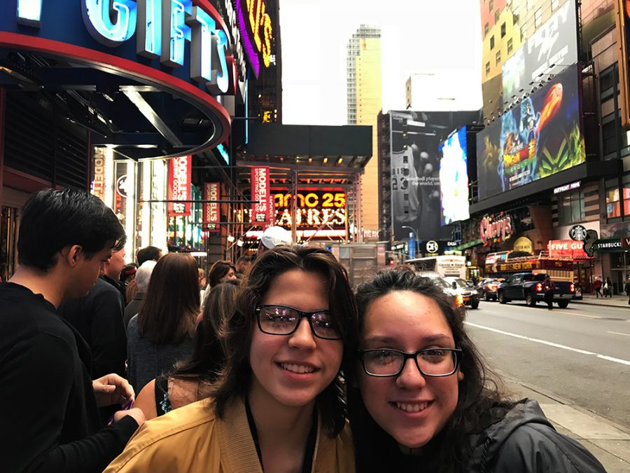 Senior watches her animation at New York City film festival