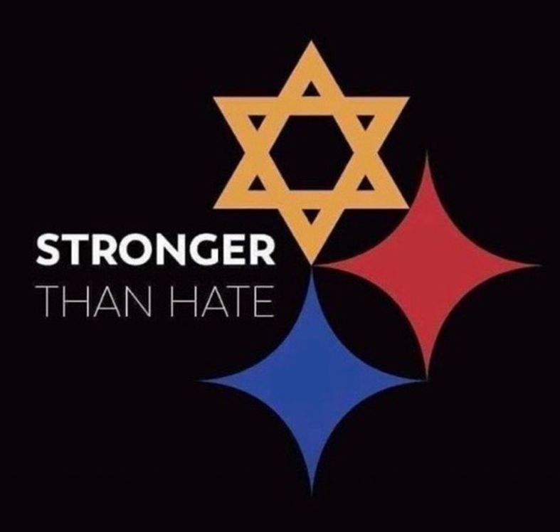 """Stronger than Hate"" logo created by a Baldwin grad"