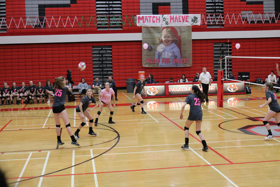 The Palatine and Fremd volleyball teams will join together to help fight pediatric brain tumors by raising money for the Maeve McNicholas Memorial Foundation.