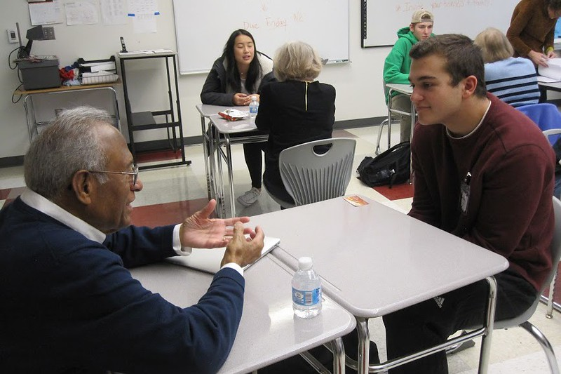 Students and local seniors bridge age gap in Wayland