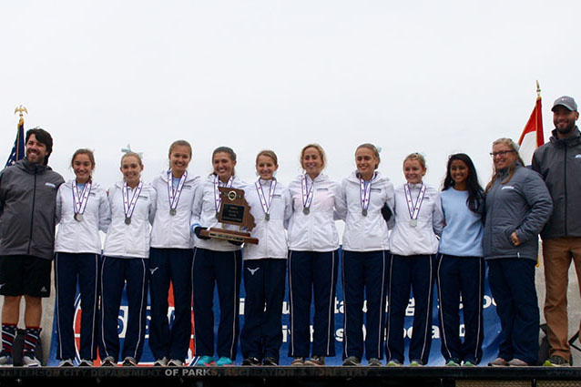 Girl's cross country's second place finish is best state performance since 1990