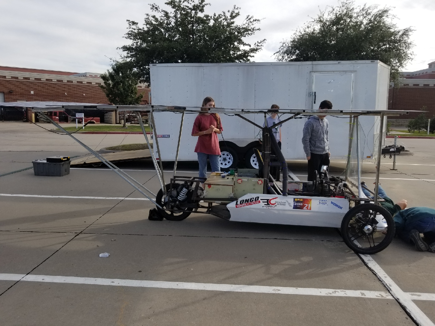 "The engineer club upgrades their car for the race in 2019. The race will take place at the Texas Motor Speedway. ""We named our car Apollo,"