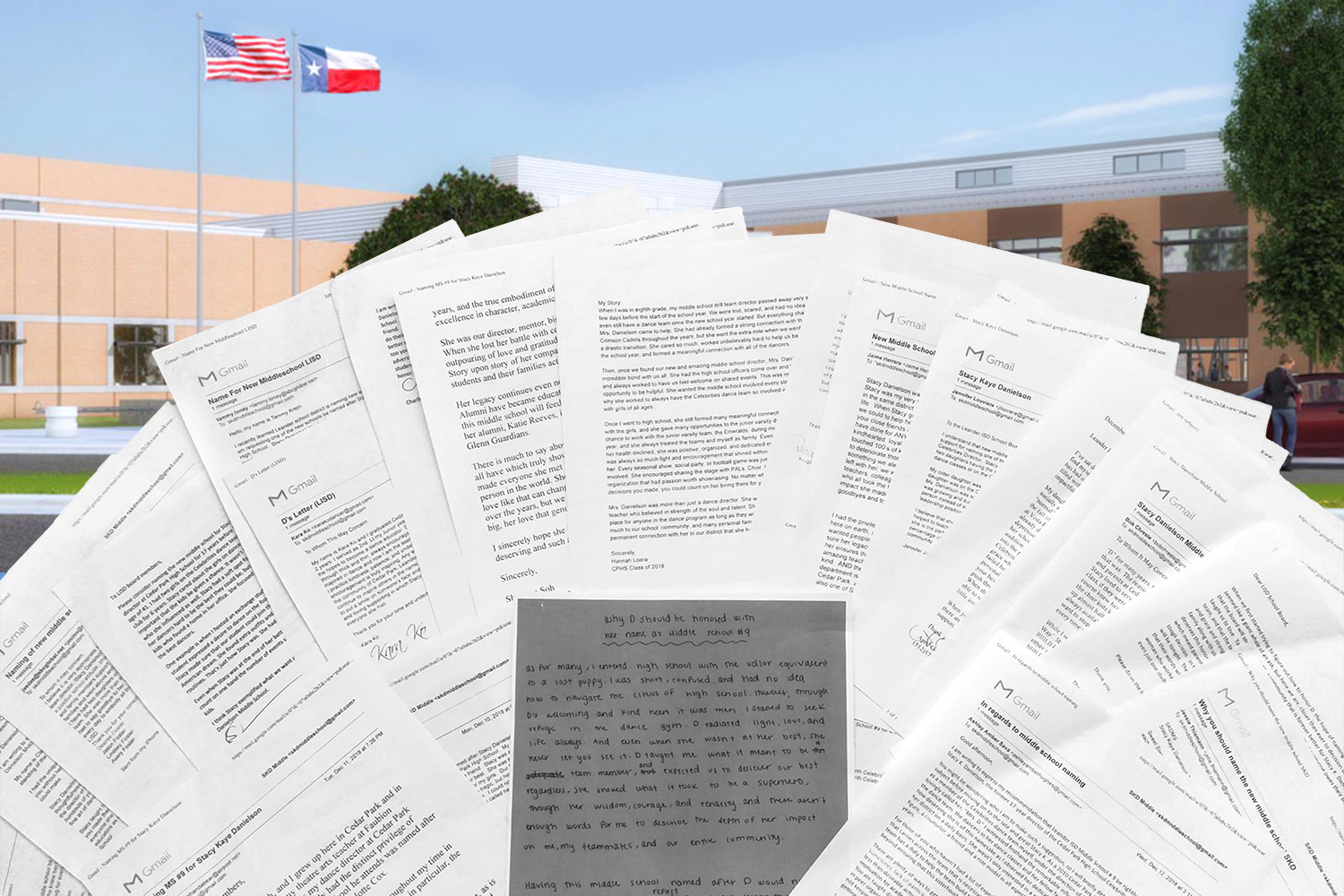 Before deciding to name their ninth middle school after former dance coach, Stacy Danielson, Leander ISD school board members were given over two dozen letters from those who knew her.