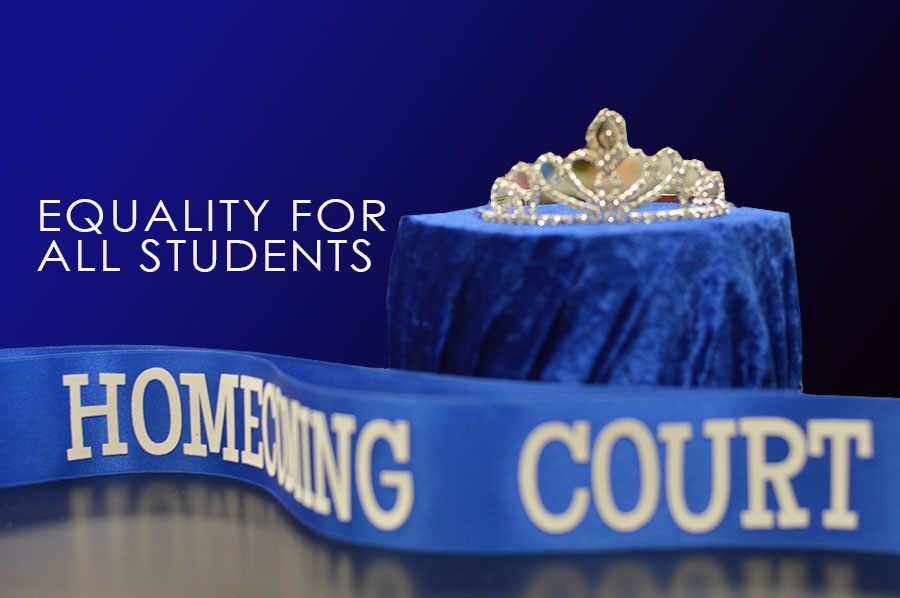 Homecoming out \ Homecoming court shouldn't have to follow gender norms. Two people, not one prince and one princess, should be recognized for each grade level.