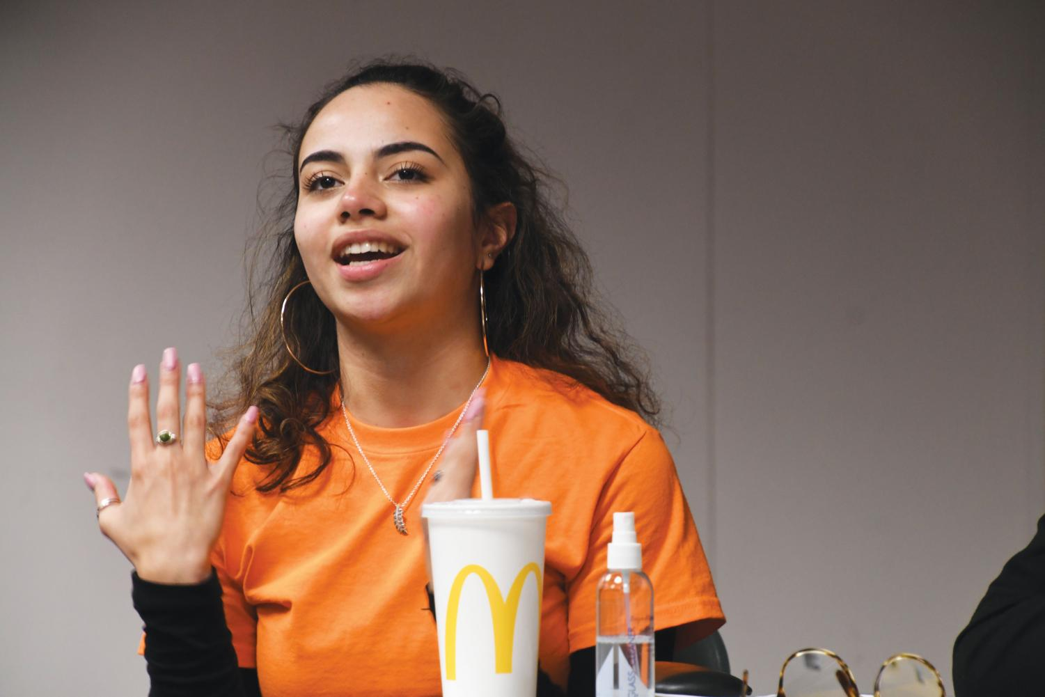 "Senior Natalia Caraballo speaks about her experiences at Park at her second SOAR uncensored forum. ""I felt really good. I felt like I shared everything that I needed to in order to get my message and experience across to people,"" Natalia Caraballo said."