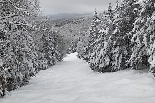 Winter Storm Bruce dropped upwards of 18 inches of snow in some parts of Northern New England, including Okemo, a ski resort in southern Vermont.