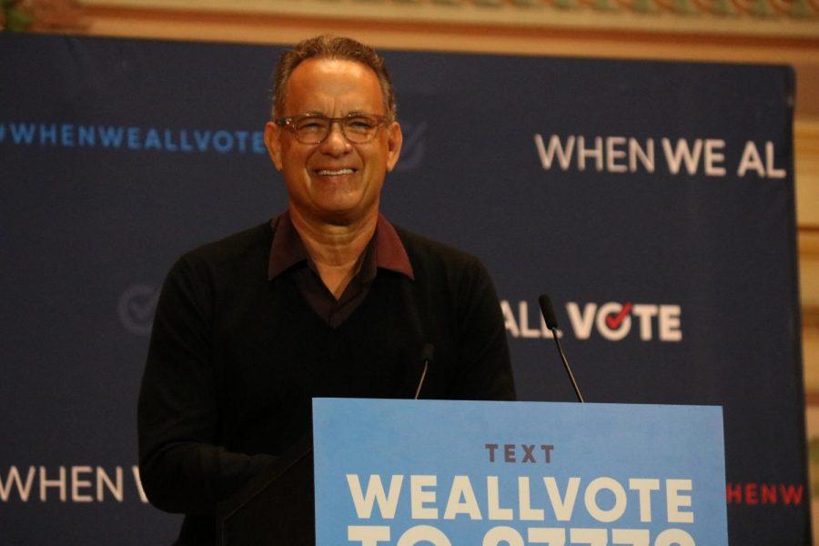 Tom Hanks headlines voting event in Pittsburgh